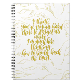 Love Quotes: Trying Hard There To Forget Us Notebooks