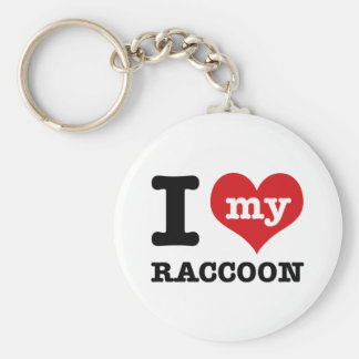 love Racoon Key Ring