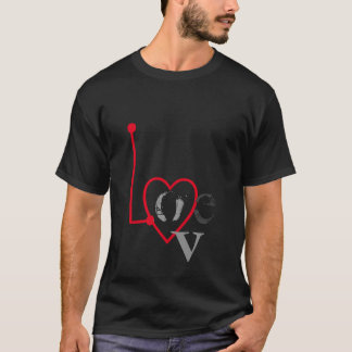 Love Radar Black Tee Shirt