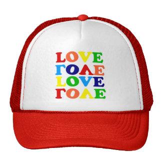Love Rainbow Alphabet Soup Valentine Mesh Hat
