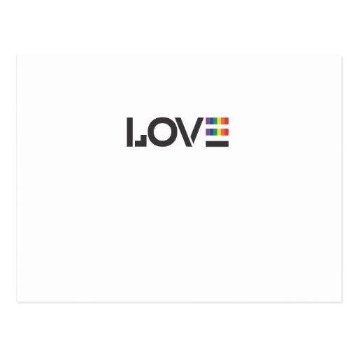 Love Rainbow Flag Equality Symbol Post Cards