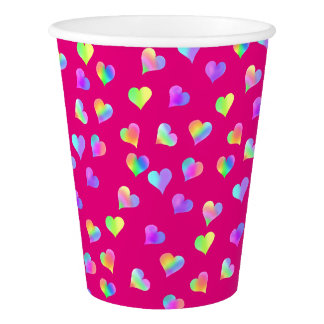Love & Rainbow Hearts by The Happy Juul Company Paper Cup