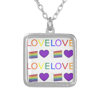 LOVE Rainbow Layer Cake LGBT Gay Pride Necklace