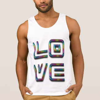 Love Rainbow Typography Text Only Singlet