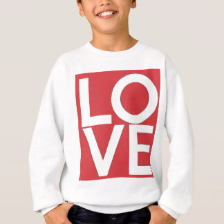 LOVE - Red and White - Valentine's Day Sweatshirt