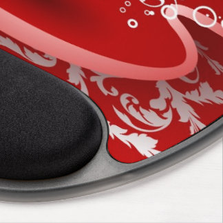 love red heart gel mouse pad