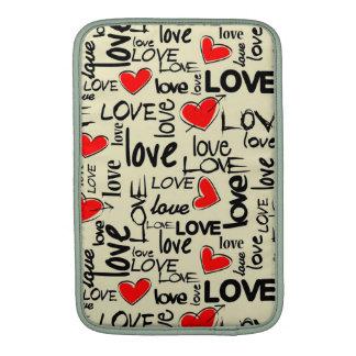 Love Red Heart Pattern MacBook Air Sleeves