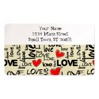 Love Red Heart Pattern Pack Of Standard Business Cards