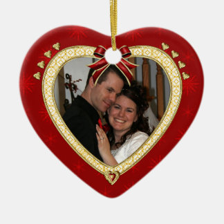 Love Red Heart Personalised Photo Ornament