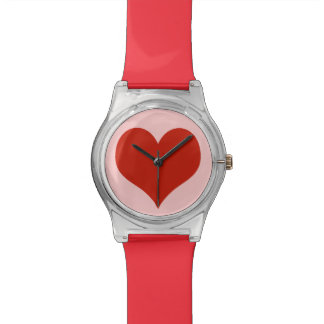 love red heart wrist watches