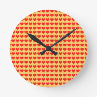 Love red hearts wall clocks