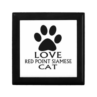 LOVE RED POINT SIAMESE CAT DESIGNS GIFT BOX