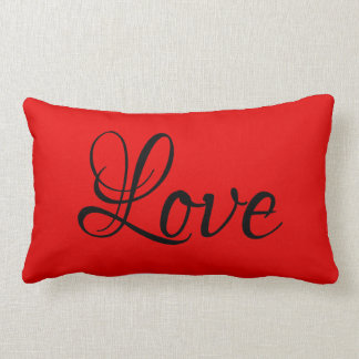Love Red Solids Lumbar & Throw Pillows