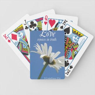 love rejoices in truth poker deck
