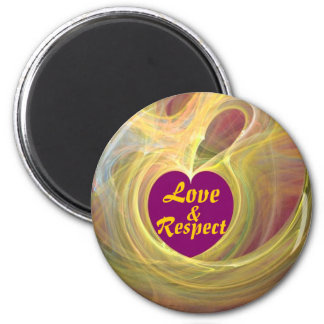 Love & Respect _ Magnet_by Elenne Boothe 6 Cm Round Magnet