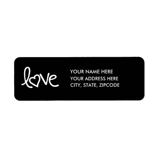 Love Return Address Label