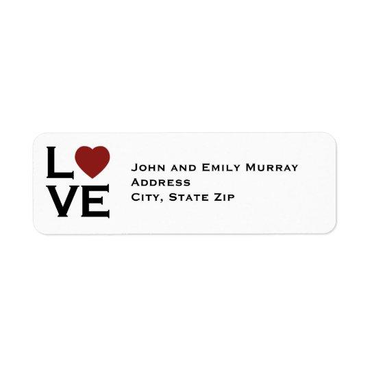 Love Return Address Labels