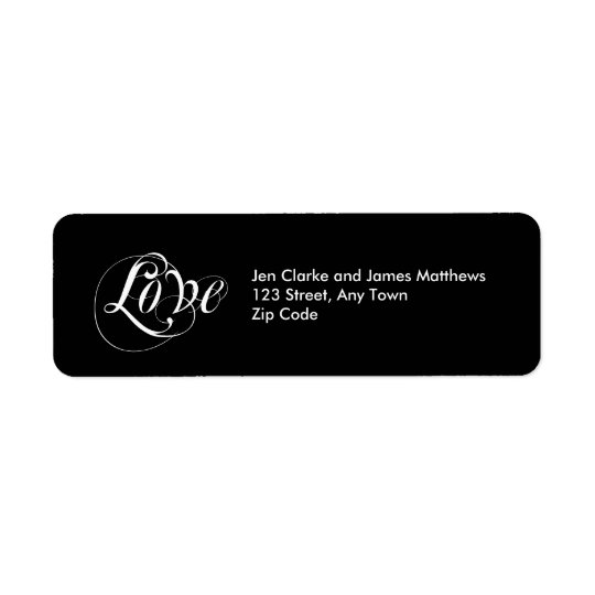 Love Return Address Labels for Weddings