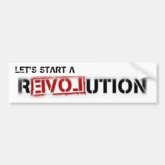 Love Revolution Bumper Sticker
