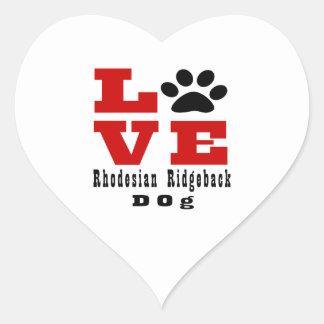 Love Rhodesian Ridgeback Dog Designes Heart Sticker