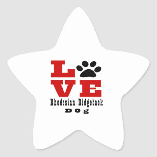 Love Rhodesian Ridgeback Dog Designes Star Sticker