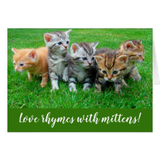 Love Rhymes with Mittens Kittens Greeting Card