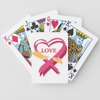 LOVE RIBBON BICYCLE PLAYING CARDS