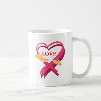 LOVE RIBBON COFFEE MUG