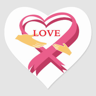 LOVE RIBBON HEART STICKER