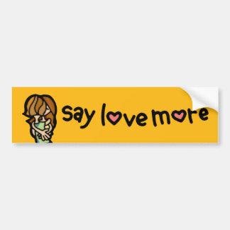 love ride. bumper sticker