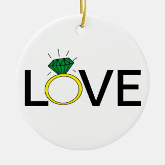 Love Ring Ceramic Ornament