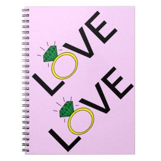 Love Ring Notebooks