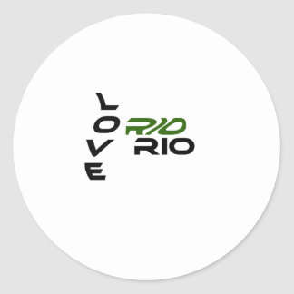 Love Rio Green Classic Round Sticker