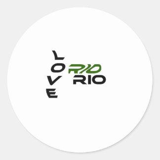 Love Rio Green Round Sticker