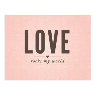 Love Rocks My World Vintage Postcard