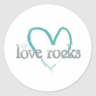 Love Rocks Round Sticker
