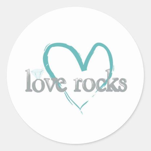 Love Rocks Round Stickers