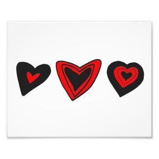 Love, Romance, Hearts - Red Black Photo Art