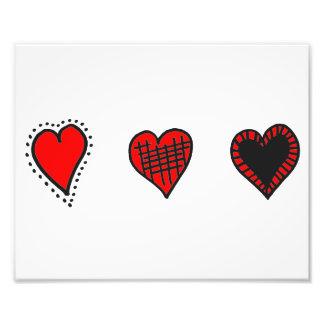 Love, Romance, Hearts - Red Black Photograph