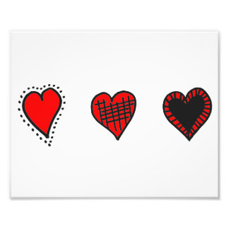 Love, Romance, Hearts - Red Black Photograph