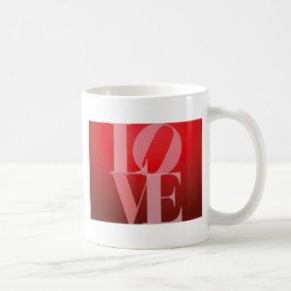 Love Romance Red Pink Basic White Mug