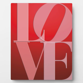Love Romance Red Pink Display Plaques