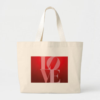 Love Romance Red Pink Large Tote Bag