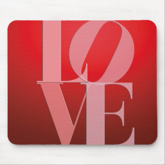 Love Romance Red Pink Mouse Pad
