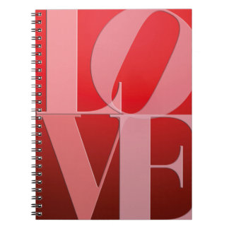 Love Romance Red Pink Note Book