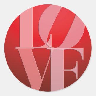 Love Romance Red Pink Round Sticker