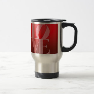 Love Romance Red Pink Stainless Steel Travel Mug