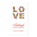 LOVE Romantic Blooms Spring Flowers Profile Card Business Card Templates