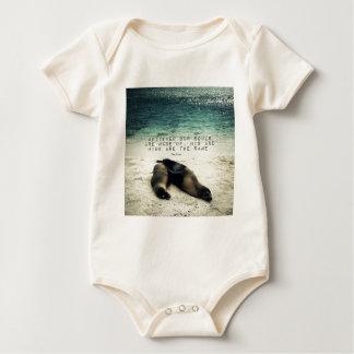 Love romantic couple quote beach Emily Bronte Baby Bodysuit