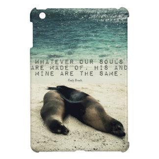 Love romantic couple quote beach Emily Bronte iPad Mini Cases